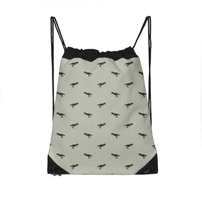 Rex Motif Pattern Accessories Drawstring Bag Bag by Mr Loco Motif