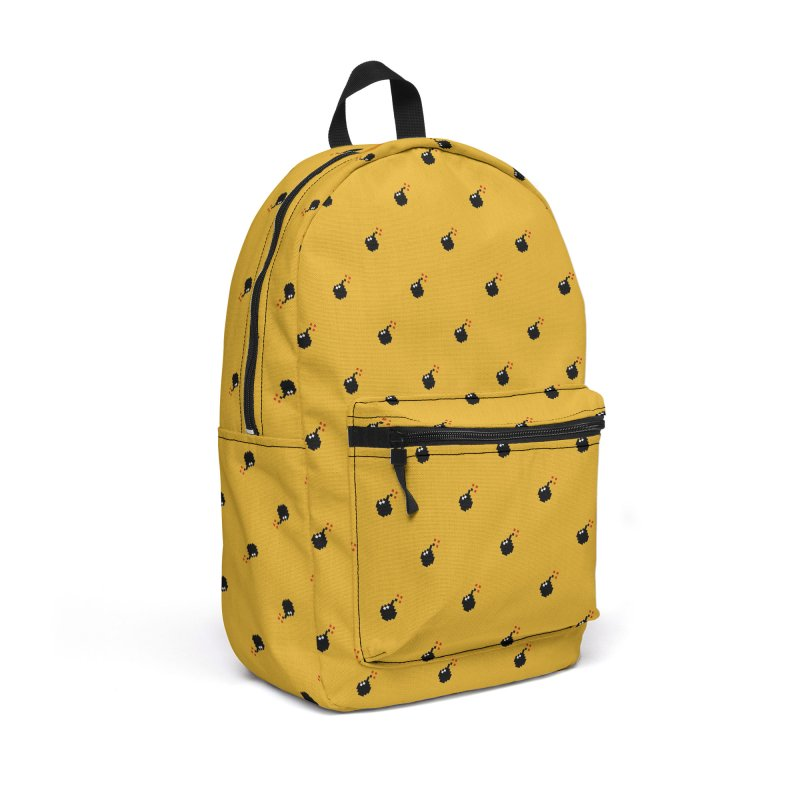 Bomb Motif Pattern Accessories Backpack Bag by Mr Loco Motif - Artist Shop
