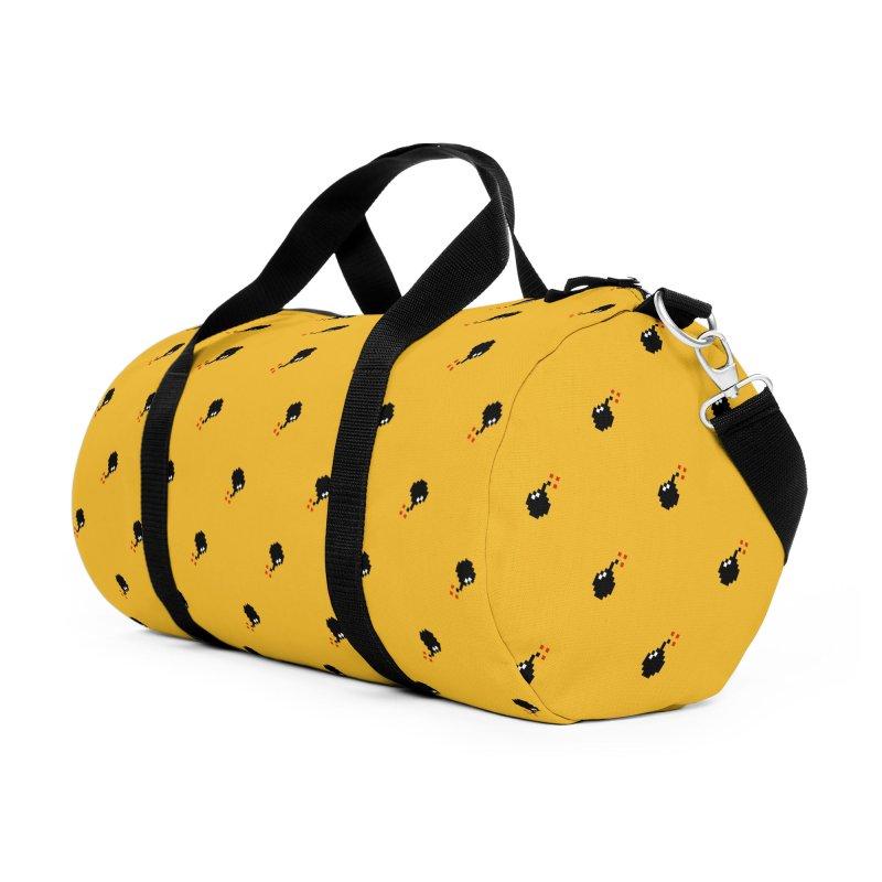 Bomb Motif Pattern Accessories Duffel Bag Bag by Mr Loco Motif - Artist Shop