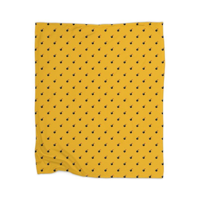 Bomb Motif Pattern Home Blanket by Mr Loco Motif
