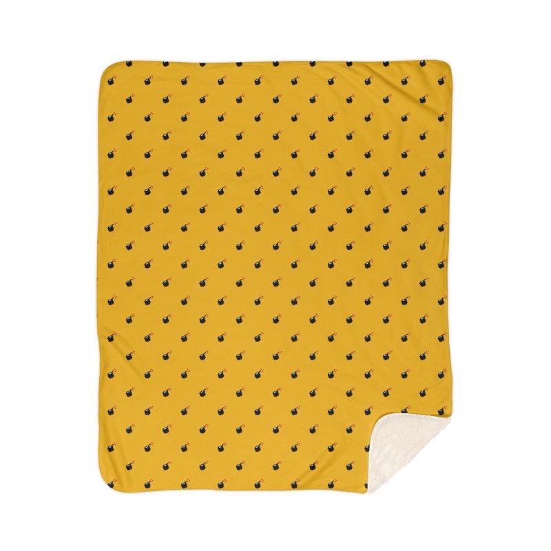 Bomb Motif Pattern Home Sherpa Blanket Blanket by Mr Loco Motif