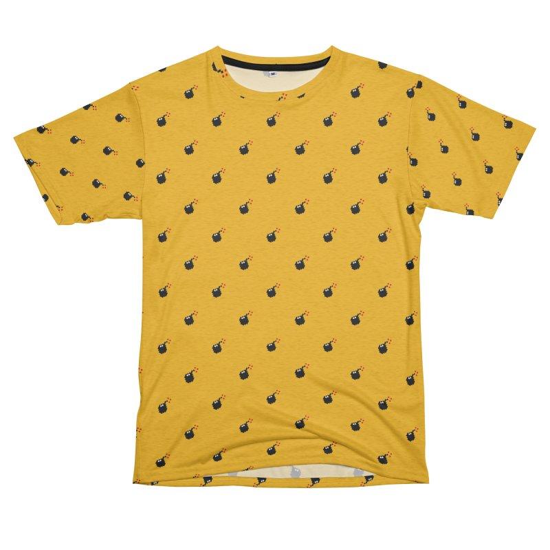 Bomb Motif Pattern Men's French Terry T-Shirt Cut & Sew by Mr Loco Motif
