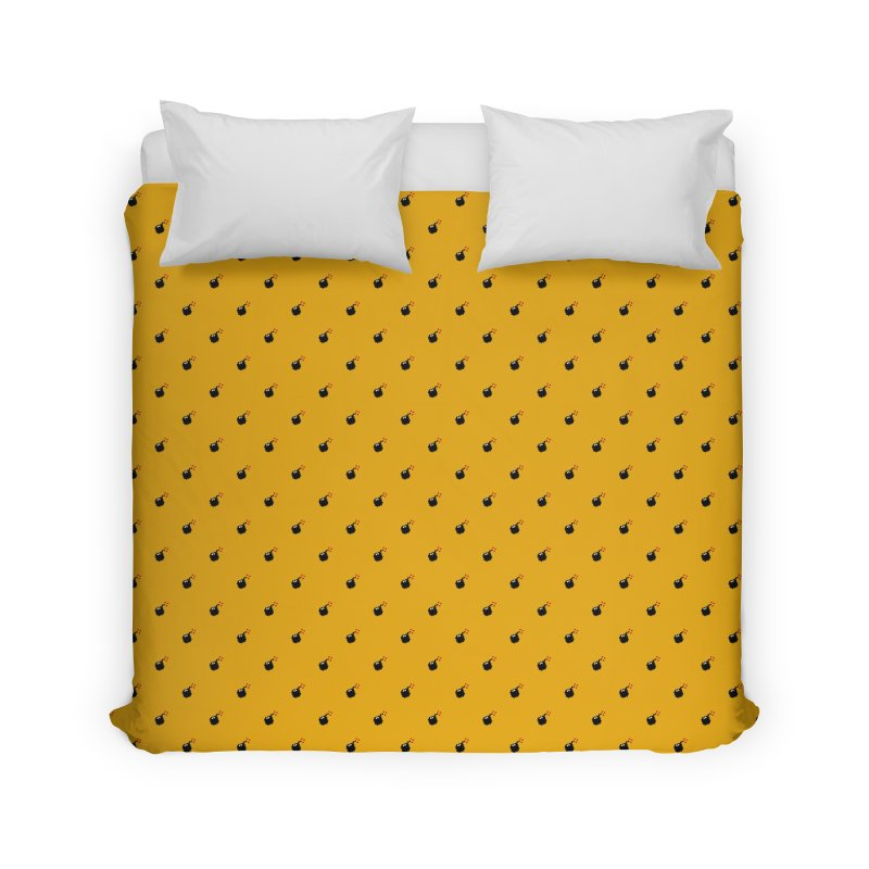 Bomb Motif Pattern Home Duvet by Mr Loco Motif - Artist Shop