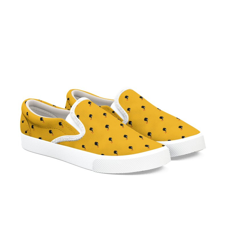 Bomb Motif Pattern Men's Slip-On Shoes by Mr Loco Motif - Artist Shop