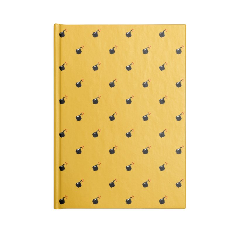 Bomb Motif Pattern Accessories Blank Journal Notebook by Mr Loco Motif - Artist Shop