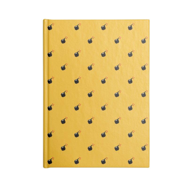 Bomb Motif Pattern Accessories Lined Journal Notebook by Mr Loco Motif - Artist Shop