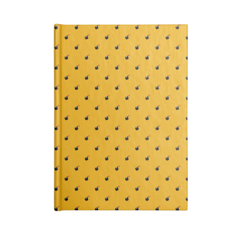 Bomb Motif Pattern Accessories Lined Journal Notebook by Mr Loco Motif