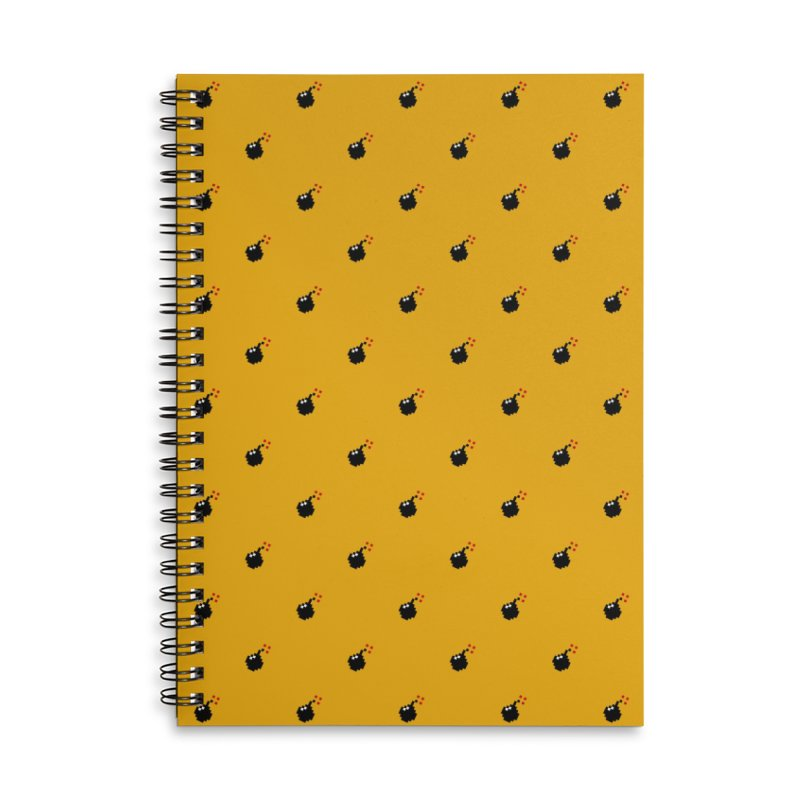 Bomb Motif Pattern Accessories Lined Spiral Notebook by Mr Loco Motif - Artist Shop