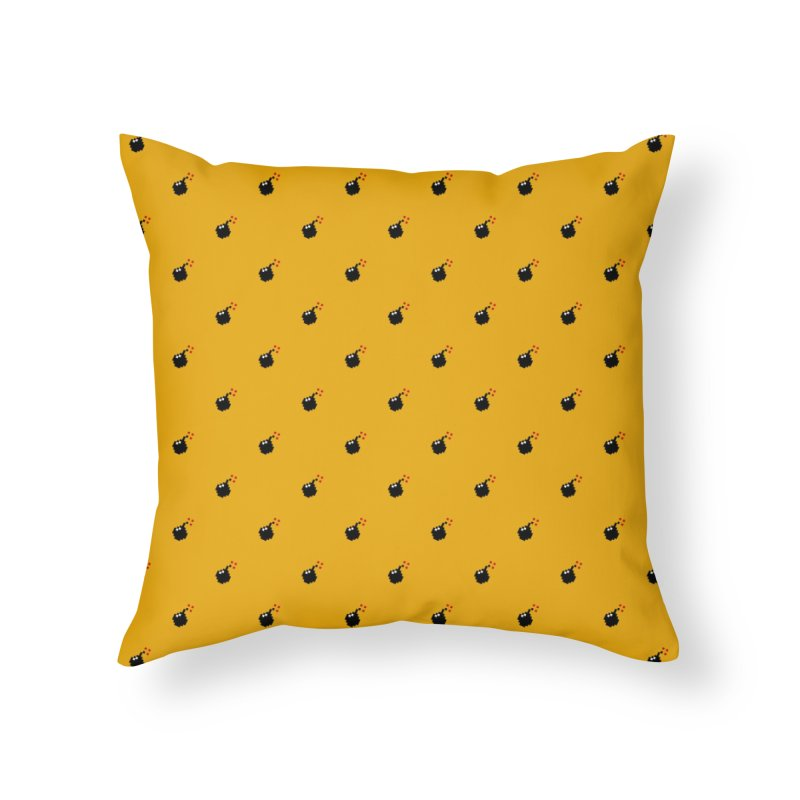 Bomb Motif Pattern Home Throw Pillow by Mr Loco Motif