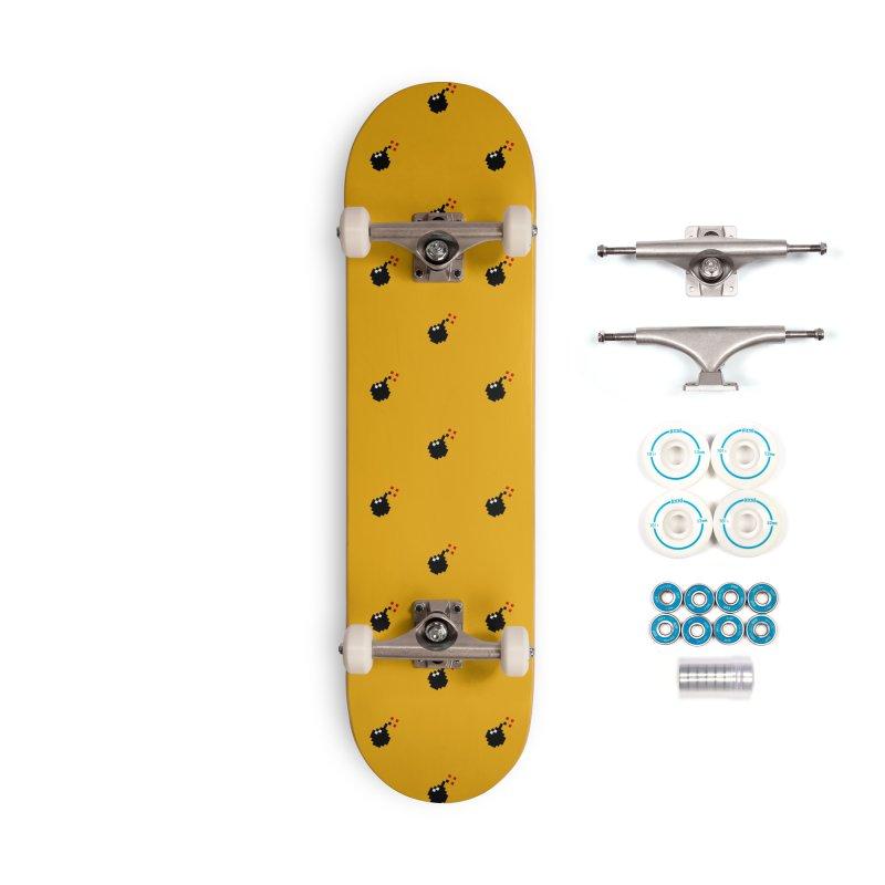 Bomb Motif Pattern Accessories Complete - Basic Skateboard by Mr Loco Motif - Artist Shop