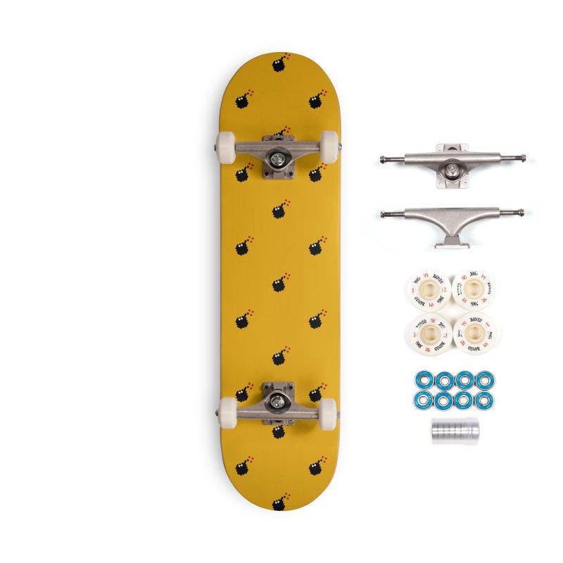Bomb Motif Pattern Accessories Complete - Premium Skateboard by Mr Loco Motif - Artist Shop