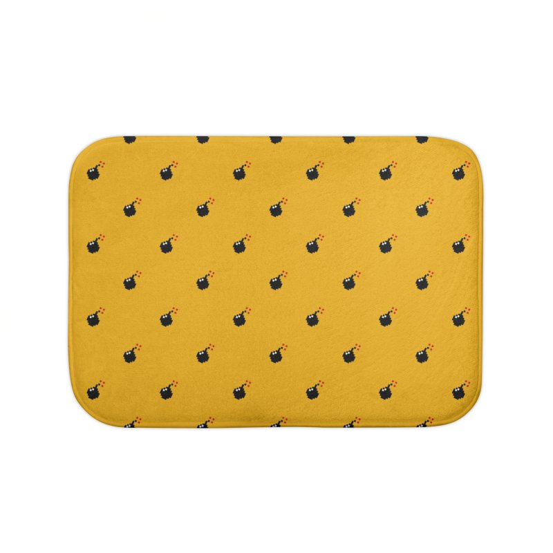 Bomb Motif Pattern Home Bath Mat by Mr Loco Motif