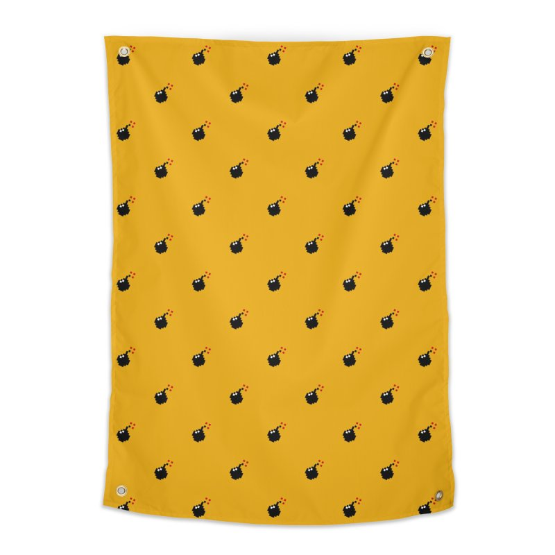 Bomb Motif Pattern Home Tapestry by Mr Loco Motif - Artist Shop