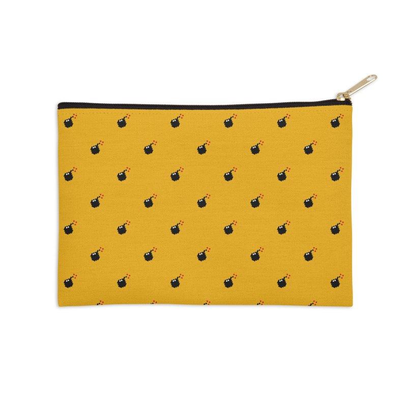Bomb Motif Pattern Accessories Zip Pouch by Mr Loco Motif