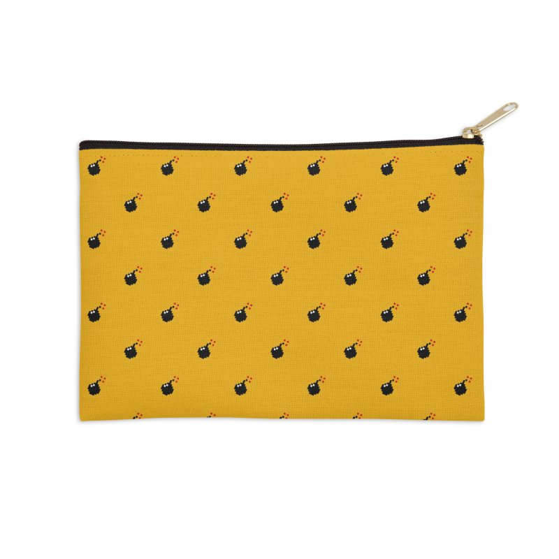 Bomb Motif Pattern Accessories Zip Pouch by Mr Loco Motif