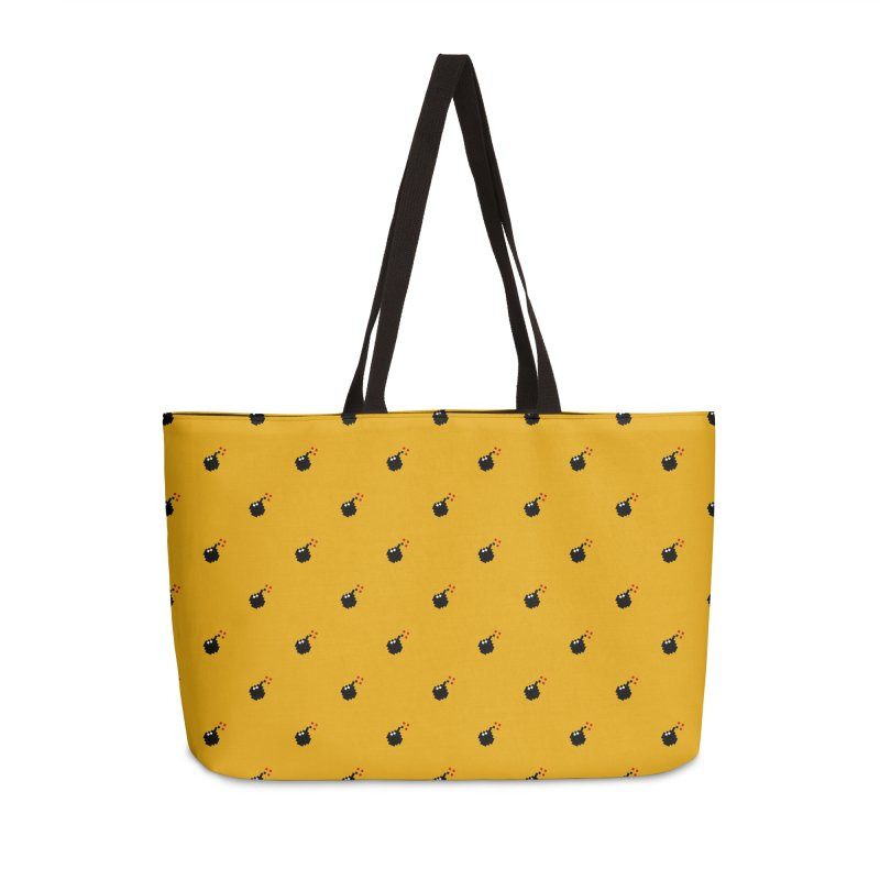 Bomb Motif Pattern Accessories Weekender Bag Bag by Mr Loco Motif