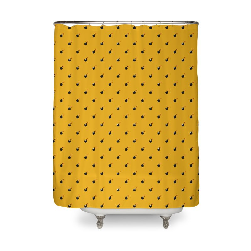 Bomb Motif Pattern Home Shower Curtain by Mr Loco Motif