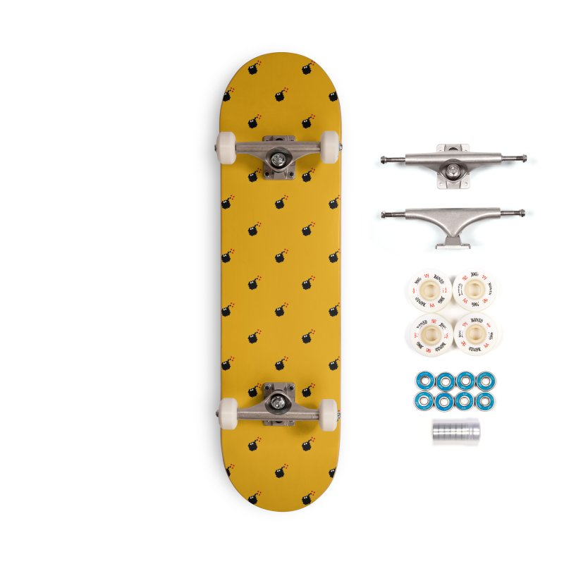 Bomb Motif Pattern Accessories Complete - Premium Skateboard by Mr Loco Motif