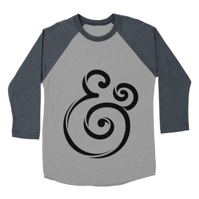 InclusivKind Ampersand Women's Baseball Triblend T-Shirt by mrrtist21's Artist Shop