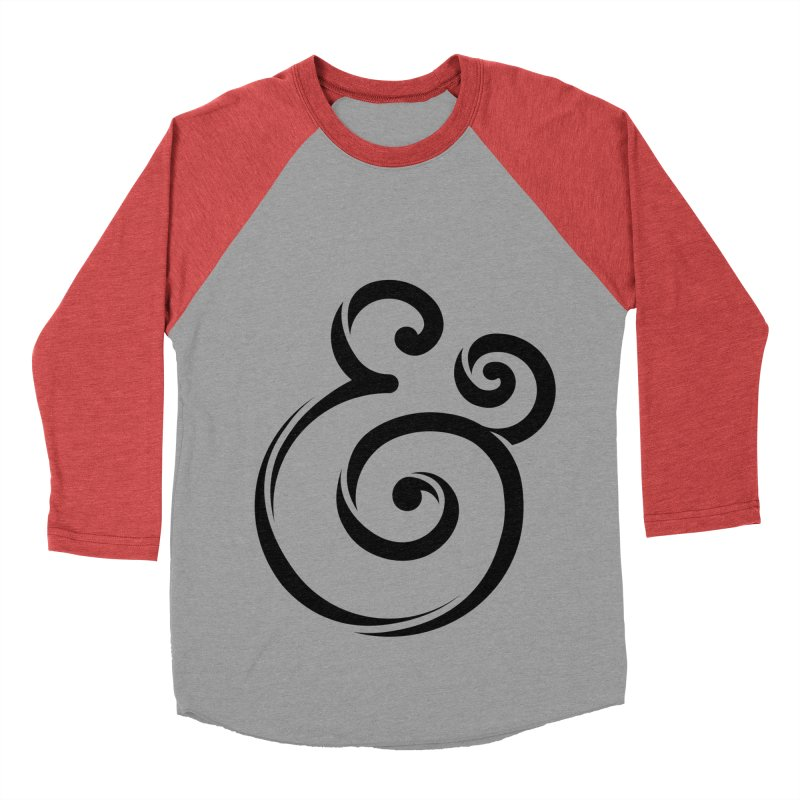 InclusivKind Ampersand Men's Baseball Triblend T-Shirt by mrrtist21's Artist Shop