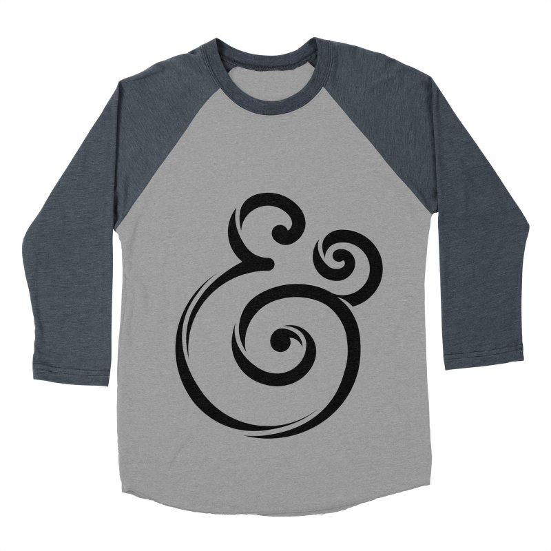 InclusivKind Ampersand Men's Baseball Triblend T-Shirt by mrrtist21's Artist Shop