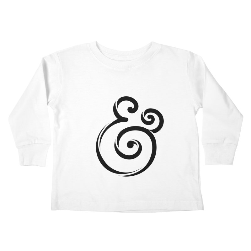 InclusivKind Ampersand Kids Toddler Longsleeve T-Shirt by mrrtist21's Artist Shop