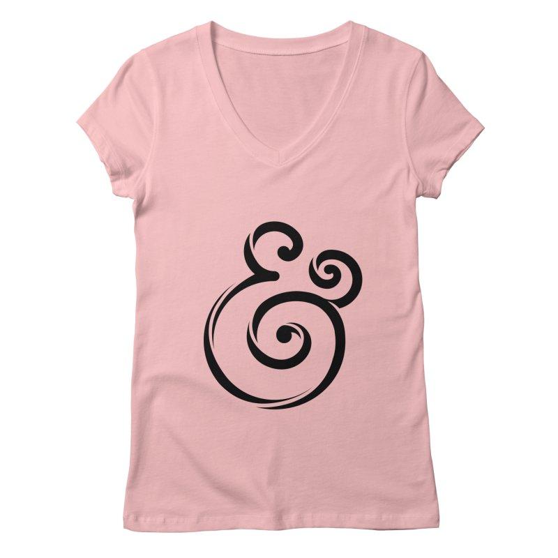 InclusivKind Ampersand Women's V-Neck by mrrtist21's Artist Shop
