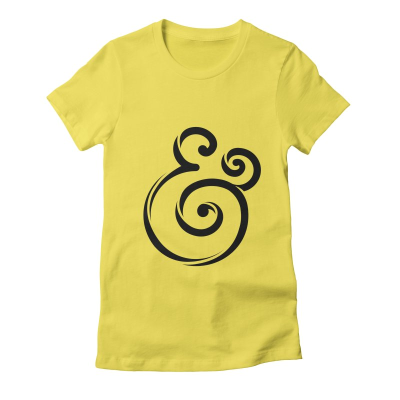 InclusivKind Ampersand Women's Fitted T-Shirt by mrrtist21's Artist Shop