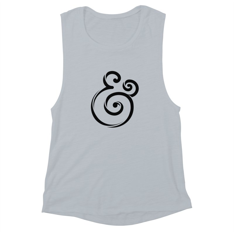 InclusivKind Ampersand Women's Muscle Tank by mrrtist21's Artist Shop