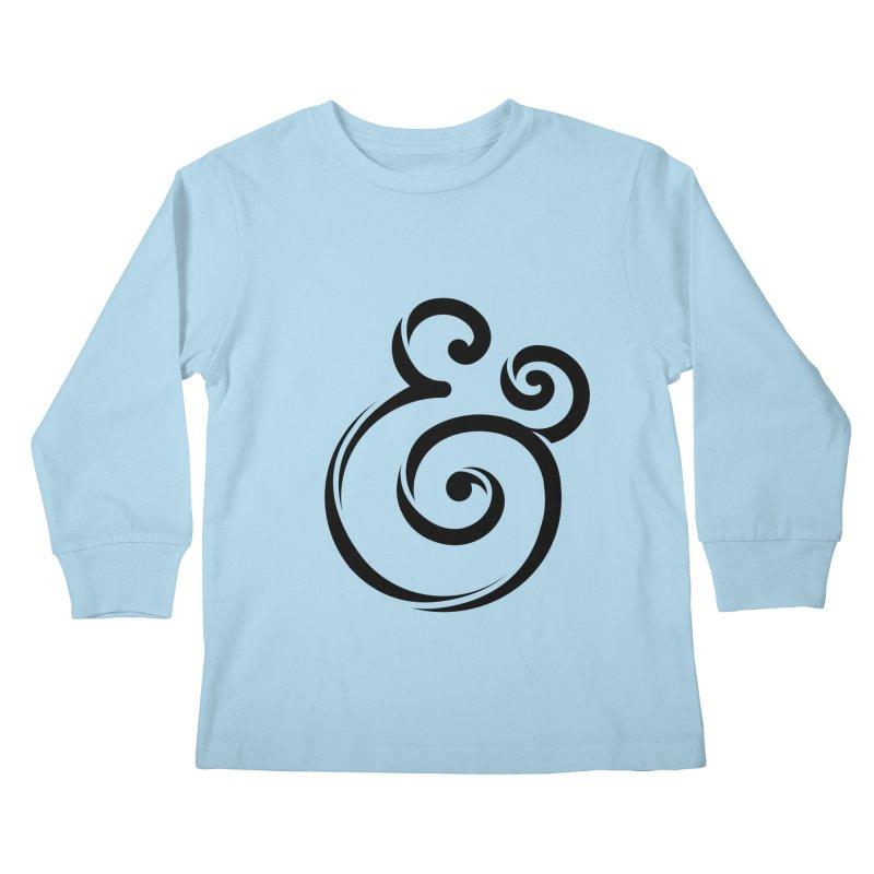 InclusivKind Ampersand Kids Longsleeve T-Shirt by mrrtist21's Artist Shop