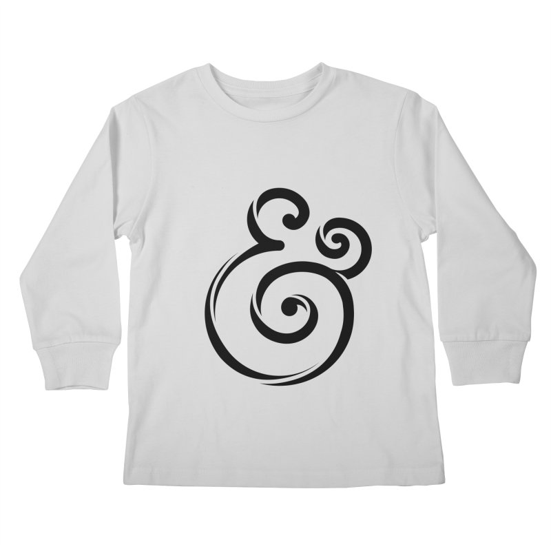 InclusivKind Ampersand Kids Longsleeve T-Shirt by mrrtist21's Artist Shop