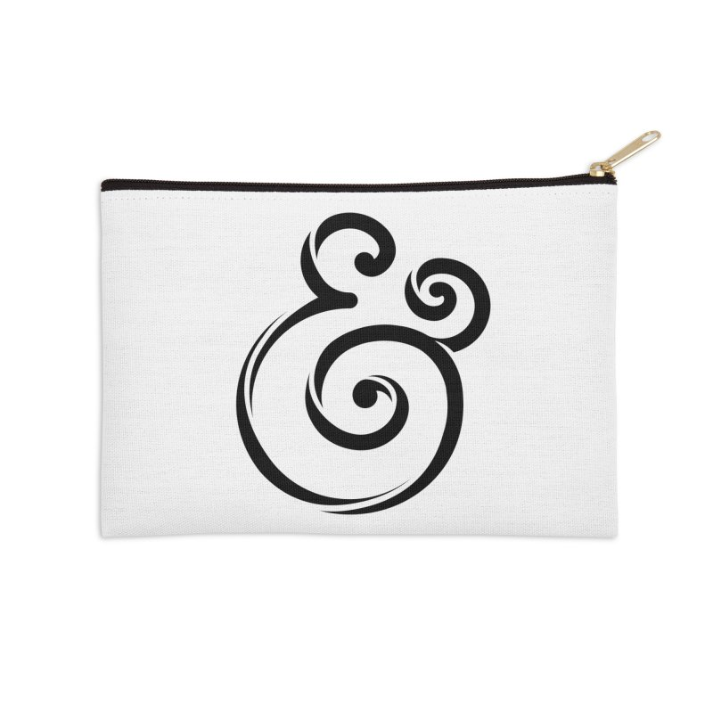 InclusivKind Ampersand Accessories Zip Pouch by mrrtist21's Artist Shop