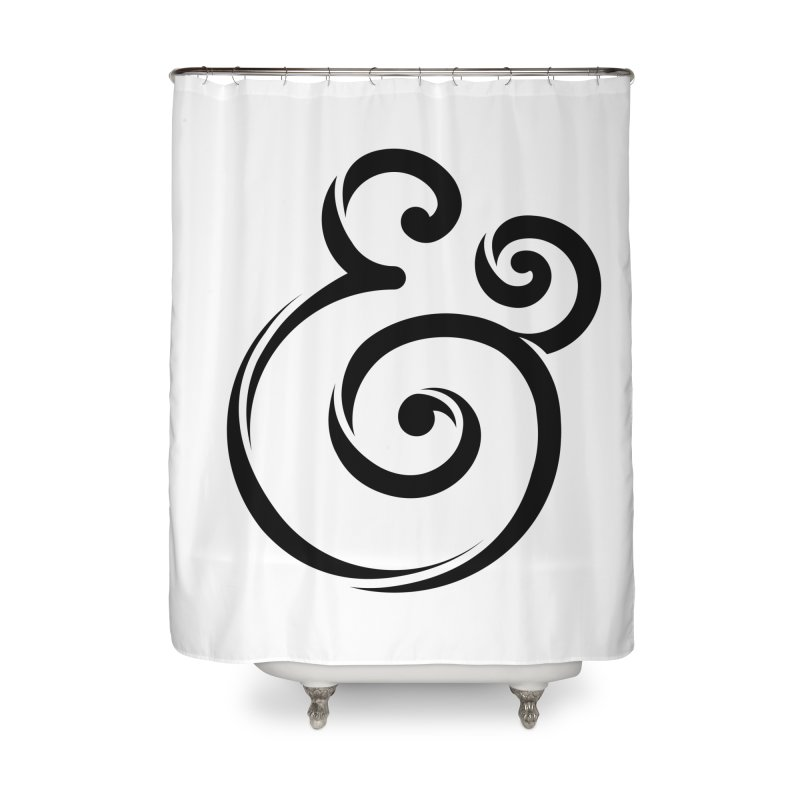 InclusivKind Ampersand Home Shower Curtain by mrrtist21's Artist Shop