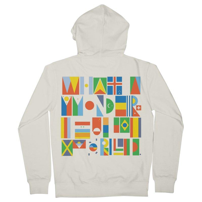 What A Wonderful World II Men's Zip-Up Hoody by mrrtist21's Artist Shop
