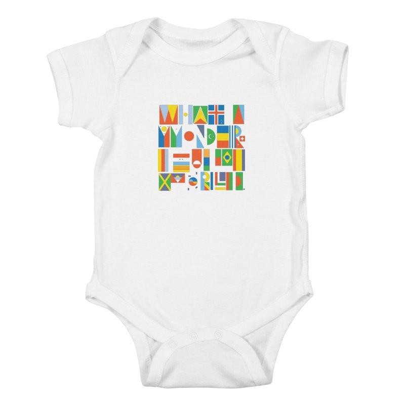 What A Wonderful World II Kids Baby Bodysuit by mrrtist21's Artist Shop