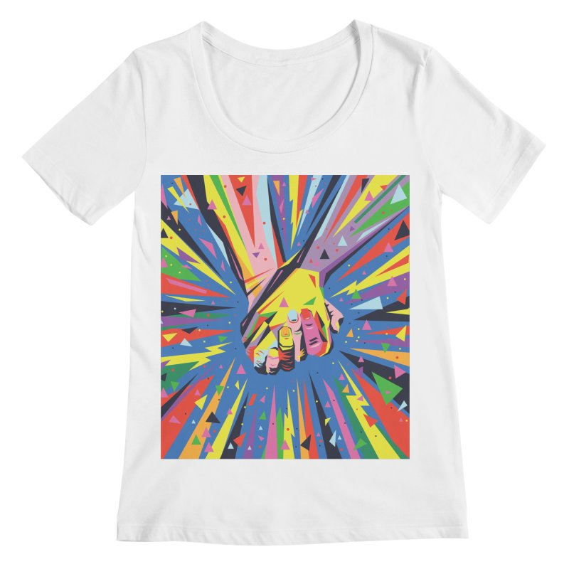 Band Together - Pride Women's Scoopneck by mrrtist21's Artist Shop