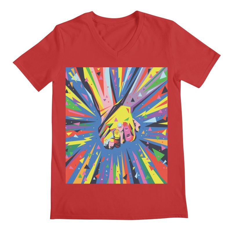 Band Together - Pride Men's V-Neck by mrrtist21's Artist Shop