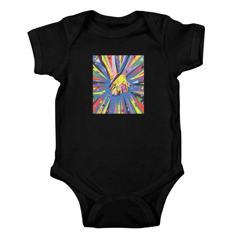 Band Together - Pride Kids Baby Bodysuit by mrrtist21's Artist Shop
