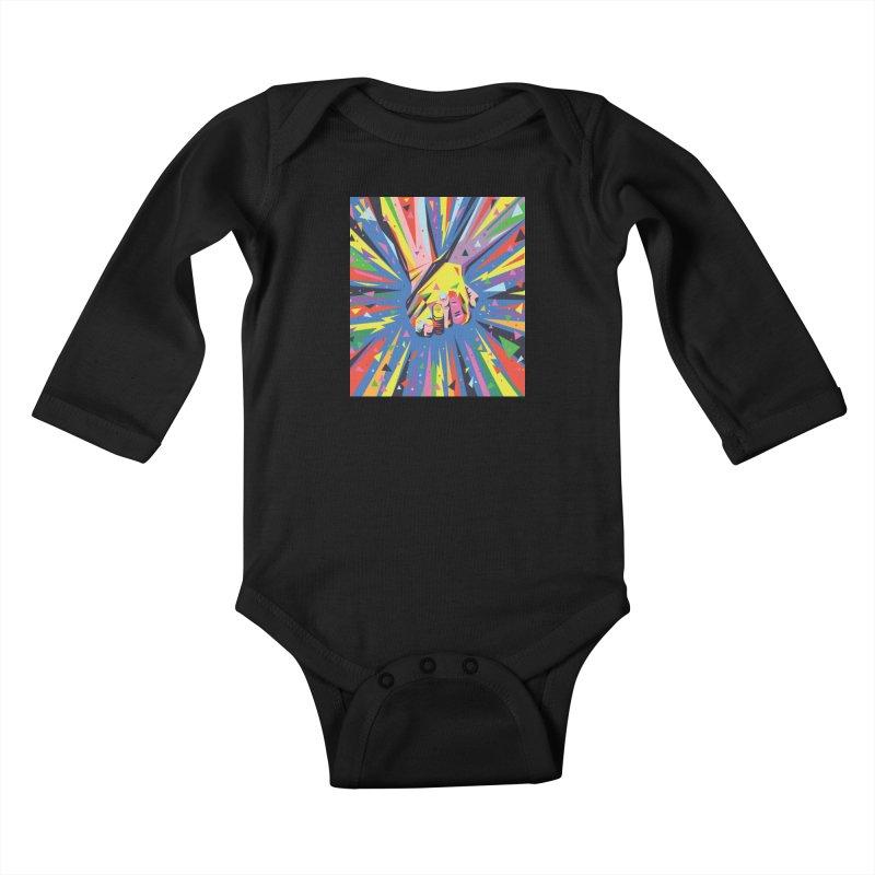 Band Together - Pride Kids Baby Longsleeve Bodysuit by mrrtist21's Artist Shop