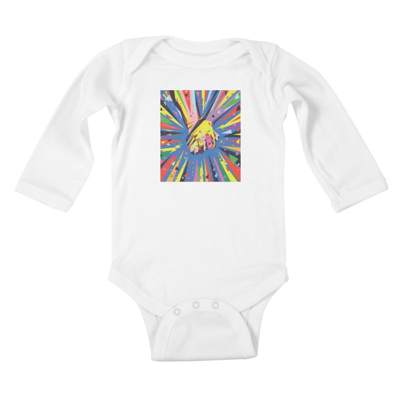 Band Together - Pride Kids Baby Longsleeve Bodysuit by mrrtist21's Artist Shop