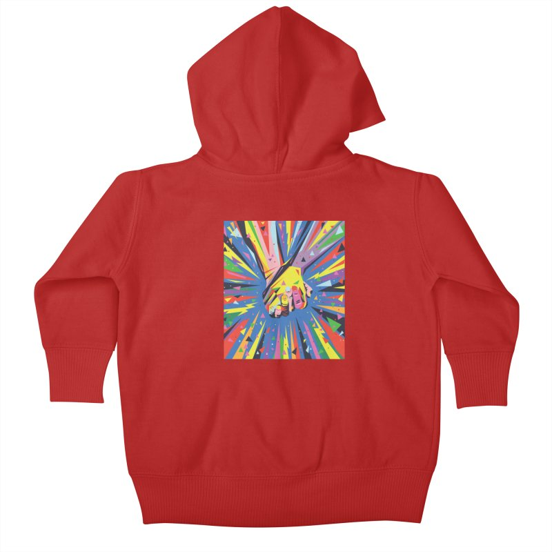 Band Together - Pride Kids Baby Zip-Up Hoody by mrrtist21's Artist Shop