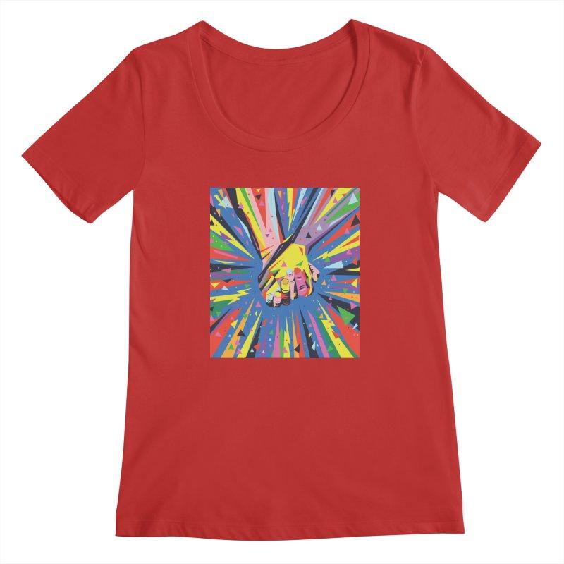 Band Together - Pride Women's Scoopneck by mrrtist21's Artist Shop
