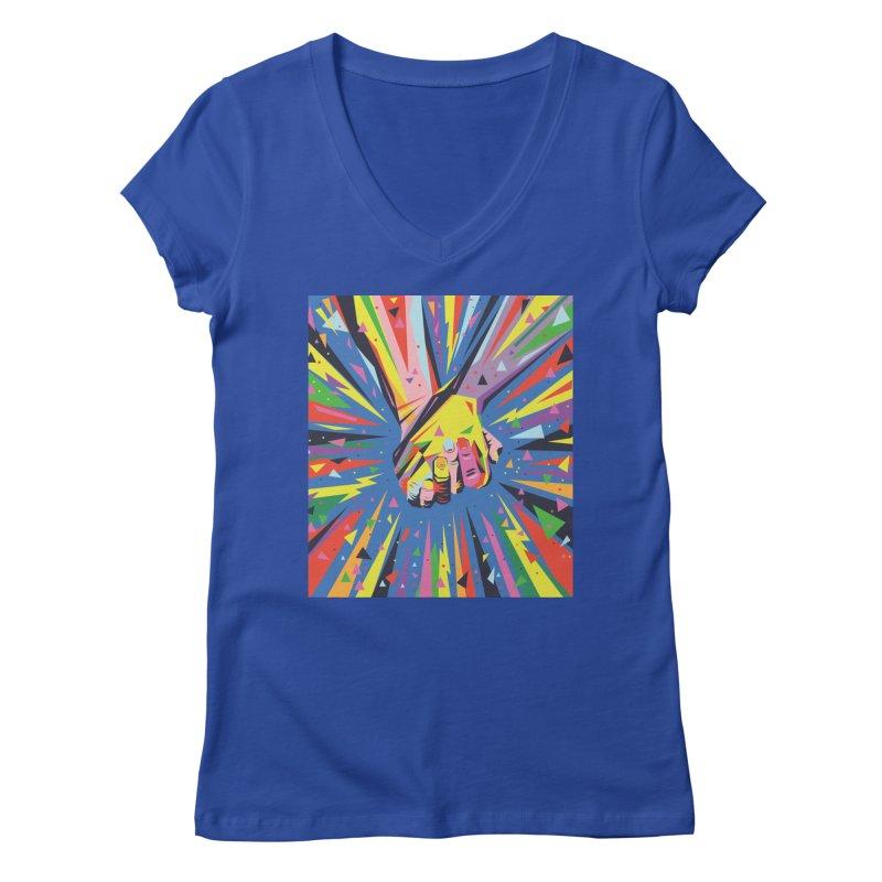 Band Together - Pride Women's V-Neck by mrrtist21's Artist Shop