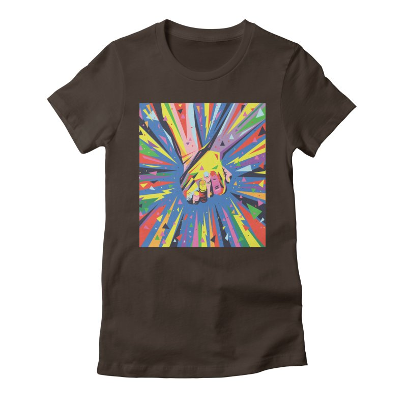 Band Together - Pride Women's Fitted T-Shirt by mrrtist21's Artist Shop