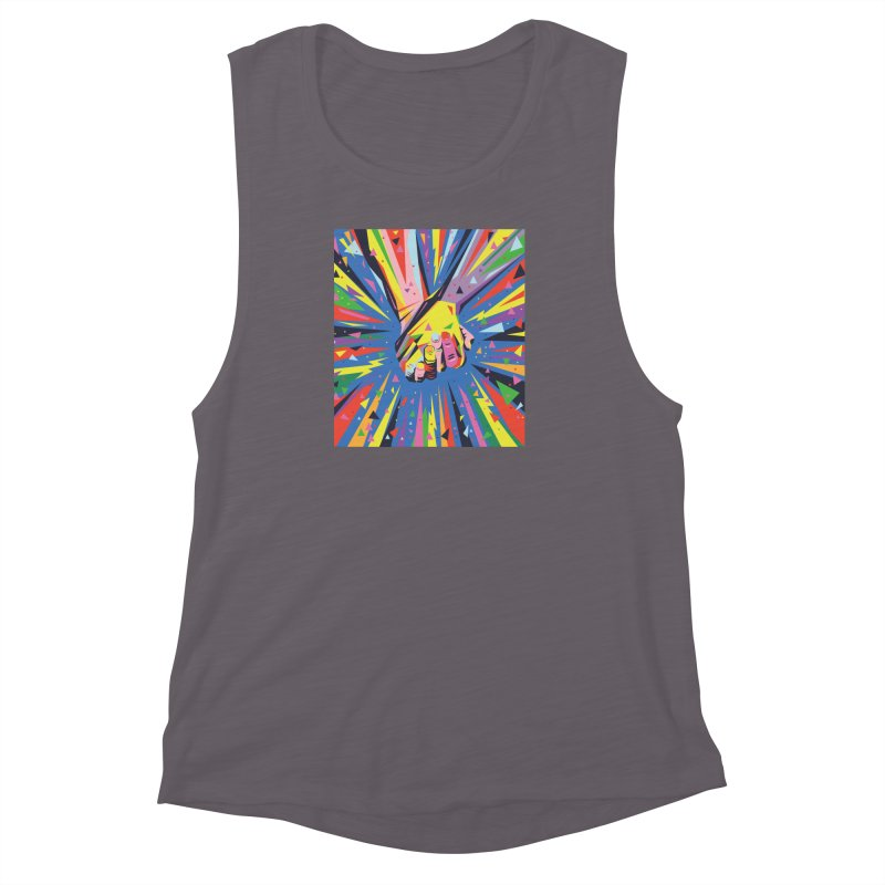 Band Together - Pride Women's Muscle Tank by mrrtist21's Artist Shop