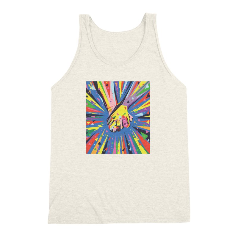 Band Together - Pride Men's Triblend Tank by mrrtist21's Artist Shop