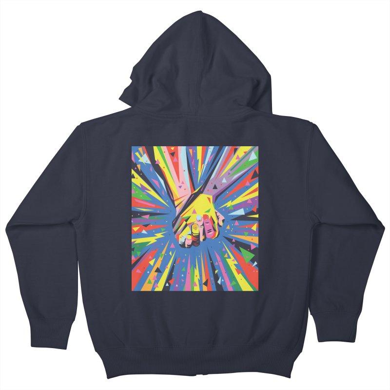 Band Together - Pride Kids Zip-Up Hoody by mrrtist21's Artist Shop