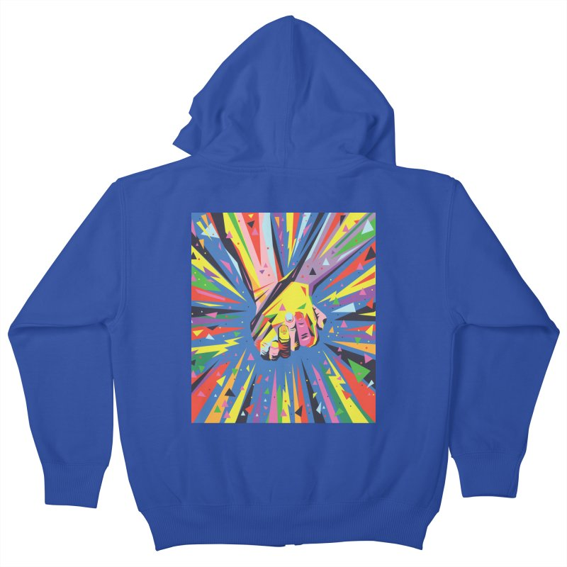 Band Together - Pride Kids Zip-Up Hoody by mrrtist21's Artist Shop