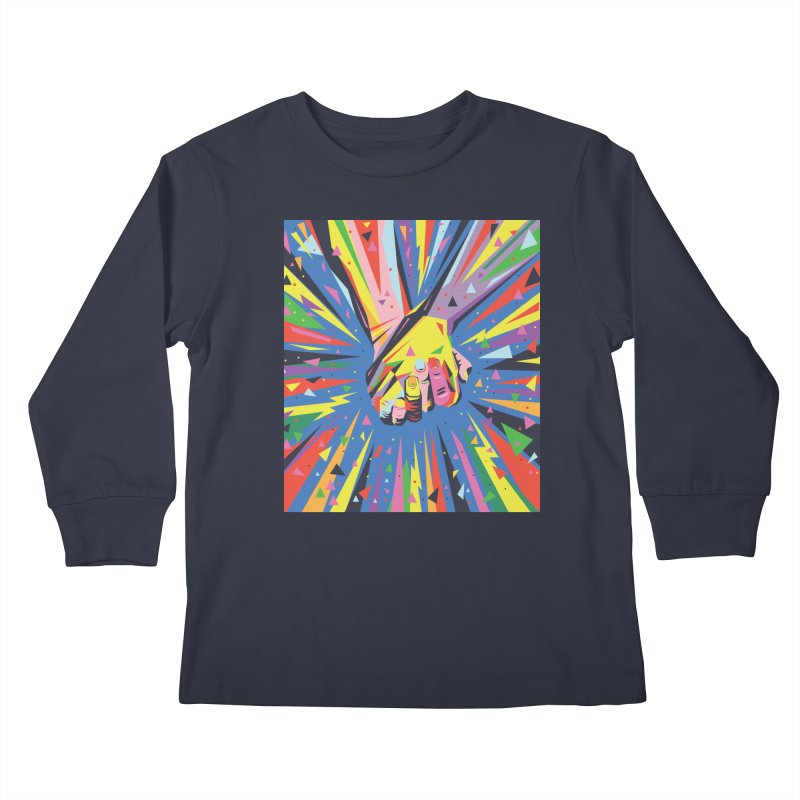 Band Together - Pride Kids Longsleeve T-Shirt by mrrtist21's Artist Shop