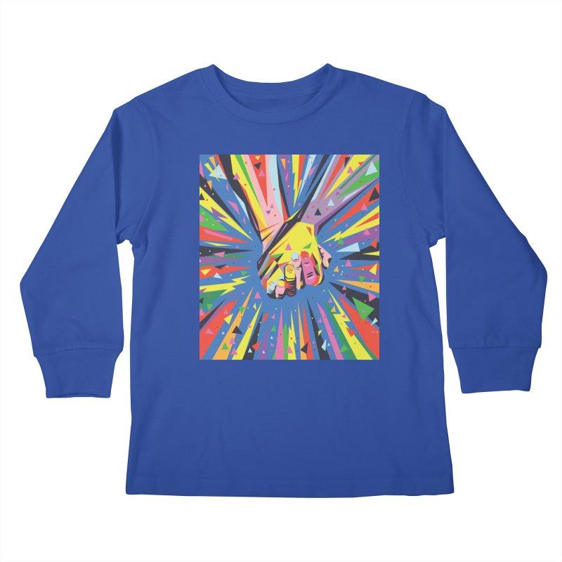 Band Together - Pride Kids Longsleeve T-Shirt by mrrtist21's Artist Shop